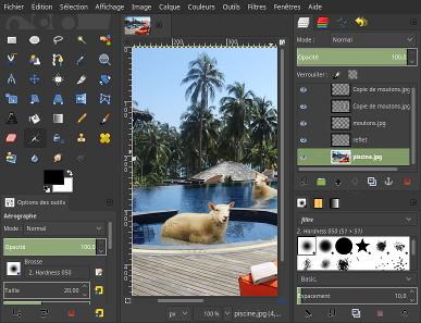 Interface de GIMP