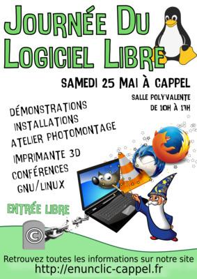 Affiche Journée du Logiciel Libre 2019